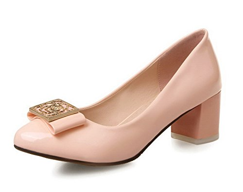 allhqfashion-womens-solid-patent-leather-kitten-heels-pull-on-round-closed-toe-pumps-shoes-pink-37