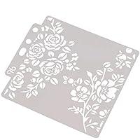 bhty235, plantillas de impresión a la moda, plantillas, plantillas, para pintar álbumes de recortes, repujado, tarjeta de álbum de estampado DIY flor