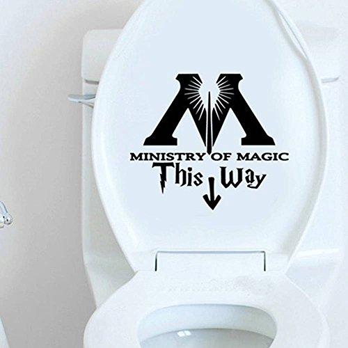 YiyiLai WC Deckel Aufkleber Toilettendeckel Klodeckel Tattoos Aufkleber Schwarz 20*20cm