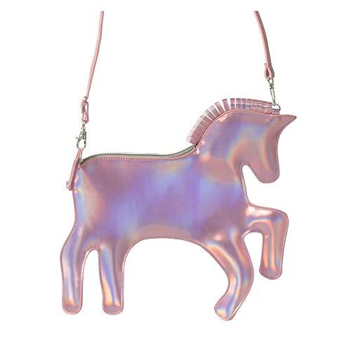 Pardao Einhorn Täschchen Handtasche - Schönstes Geschenk für Kleine Mädchen - Feierliche & Lässige Schulter- und Handtasche (Rosa)