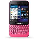 BlackBerry Q5 Smartphone (7,84 cm (3.1 Zoll) Display, QWERTZ-Tastatur, 5 MP Kamera, 8 GB interner Speicher, NFC, Blackberry 10.1 Betriebssystem) pink