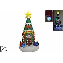Árbol de Navidad inflable con luces LED
