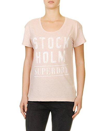 Superdry Women's Nordic Graphic Tee Women's Black T-Shirt Cotton NORDIC PINK