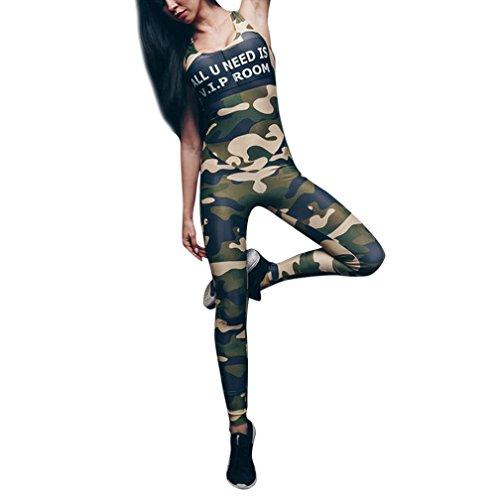 Bovake Frauen Sport Hose Yoga Leggings/Women Sports Gym Yoga Star Print Running Jumpsuit Fitness Elastic Leggings//Athletische Gymnastik Workout Fitness Jogginghose Pilates Hosen (Armee grün, XL)
