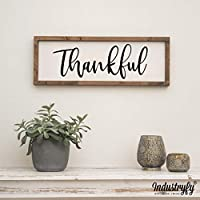 "Vintage Farmhouse Schild 60x20cm""Thankful"" Landhaus Deko Bild Farmhouse"