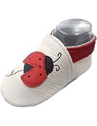 iEvolve Baby Mädchen Jungen Babyschuhe Baby Weiche Sohle Lederschuhe Baby Lauflernschuhe Krabbelschuhe Vielzahl Optionen