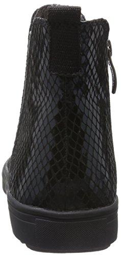 Tamaris 254, Stivali Chelsea Donna Nero (Black Struct. 006)