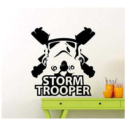 Stormtrooper WandbildVinyl Art Design Wandbild Zuhause Dekorativ Wallpaper56x60cm