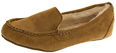 Skechers Womens Chestnut Memory Foam Moccasin Slippers UK 3