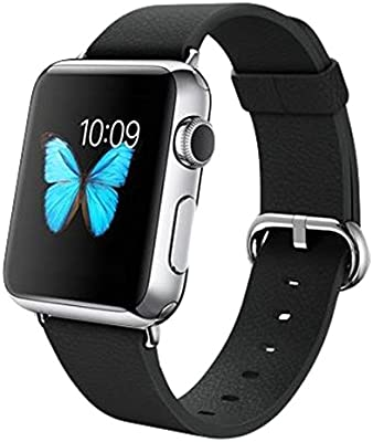 Apple Watch mj312b/A 38 mm carcasa de acero inoxidable negro clásico hebilla
