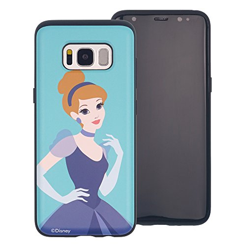 Galaxy Note 8 Schutzhülle, Disney Süße Prinzessin Layered Hybrid [TPU + PC] Bumper Cover [Shock Absorption] für Samsung Galaxy Note 8, Cinderella Aqua (Galaxy Note8)