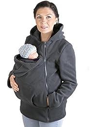 FUN2BEMUM Tragejacke Tragepullover für Mama & Baby Basic Graphit