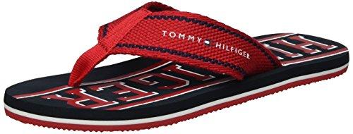 Tommy Hilfiger Herren F2285LOYD 13D Zehentrenner, Rot (Tango Red 611), 45 EU