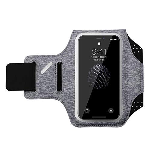 Mit Phone Armband, Herren und Fitness für Frauen Armlinge der Touch arm Tasche Touch, iPhone X/iPhone 8 Huawei universal Handtasche, mit Einem Kopfhörer Loch wasserdicht Key Bag-Grau-M