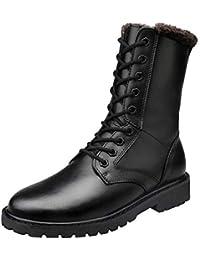 Botas Martin Botas Largas Botas De Cuero Cómodas Invierno Al Aire Libre Más Zapatos De Terciopelo