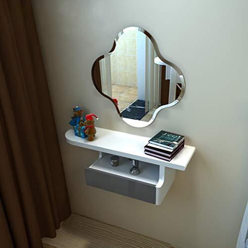Toletta trucco a parete con il cassetto mensola a muro scaffale galleggiante cosmetico gioielli immagazzinamento mensola armadio di stoccaggio comodino