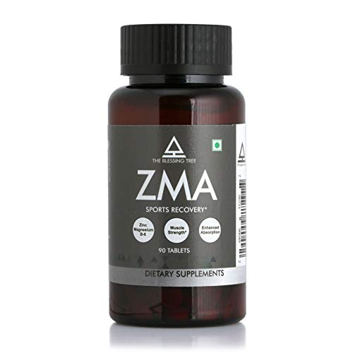The Blessing Tree ZMA Nighttime Sports Recovery Supplement with Zinc, Magnesium and Vitamin B6. 90 Tablets