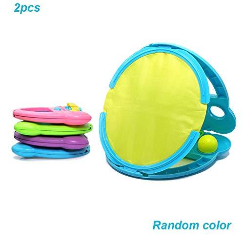 belukies Toss Und Catch Spiel Set, Sport Handheld Stick Disc Paddle Griff Ball Überwurf Tennis Spielzeug Mit Mesh Tasche Für Erwachsene Kinder -