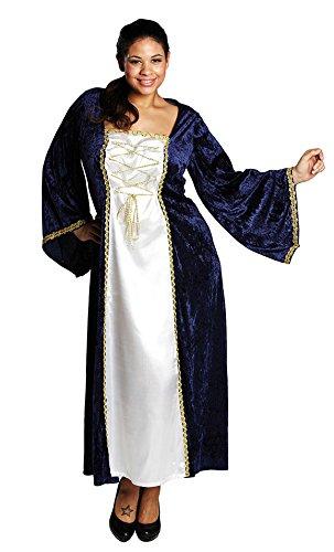 Karneval-Klamotten Burgfräulein Kostüme Damen Mittelalter Damenkostüm Hofdame Prinzessin Renaissance Fasching Größe 46 (Für Erwachsene Hofdame Kostüm)
