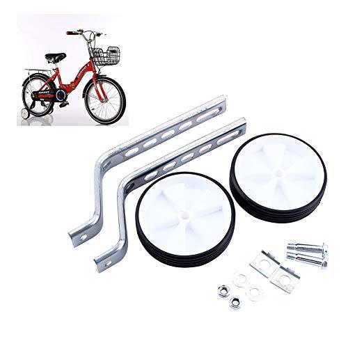 GOTOTOP Kinder Fahrrad Stabilisatoren, Fahrrad Reiten Training Rollen, verstellbar für 30,5-50,8 cm, weiß