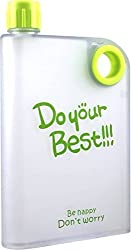 1 Pc Flat Reusable BPA-Free Portable Notebook style Ultra Slim water Bottle, DO YOUR BEST MEMO BOTTLE 380ML