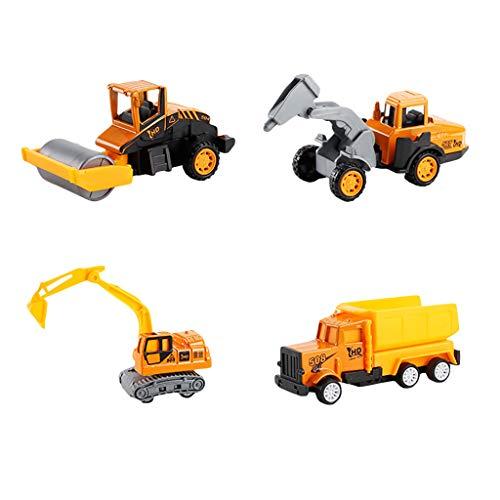 Hffan Mini Baufahrzeuge Set DIY Pädagogische Konstruktion Modell Lastwagen Spielzeug Set Kinder Bagger Spielzeug Mini Lastwagen Autos Fahrzeuge Modell Spielzeug für Kinder Jungen (Kunststoff-modell-katalog)