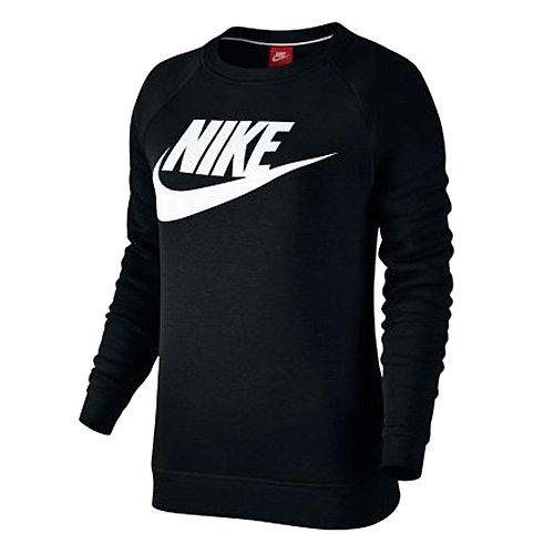 NIKE Damen W Sportswear Rally Crew GX1 Sweatshirt, Schwarz/Weiß, L Preisvergleich