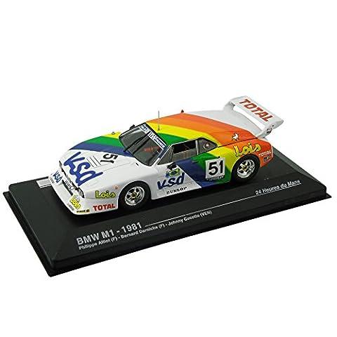 Modellauto BMW M1 - 24-Stunden-Rennen von Le Mans 1981 (1:43) - weiß / Regenbogen