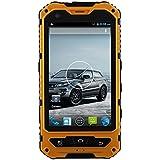 """Bestore A8 Plus - Smartphone de 4"""" (MTK6582, 1.3 GHz de cuatro núcleos, 1 GB de RAM, 8 GB ROM, cámara de 5 MP, Dual SIM, 3G WCDMA, Android 4.4.2) color amarillo"""