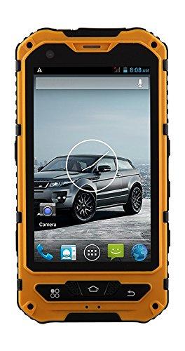 Bestore 3d o8ya 1b6C IP68Smartphone (10,2cm (4pollici) Mtk6582, Quad Core, Android 4.4.2, 1GB RAM, 8GB ROM, Fotocamera da 5MP, Dual SIM, 3G WCDMA) Giallo