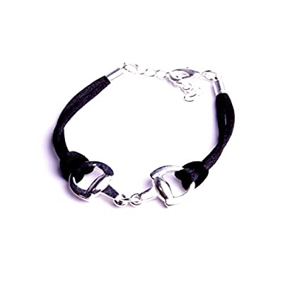 Bracelets étrier cheval bijoux créateurs jonc cordon coton sur mors à cheval fait à la main : atelier bijouterie By Mode France.