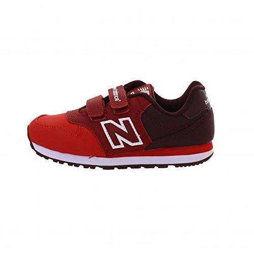 NEW BALANCE - Scarpa ginnica 500 rossa, in pelle e tessuto, con chiusura a strappo, con logo laterale e posteriore, Ragazza, Bambina-29