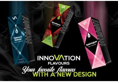 Pack of 5 x 10ml INNOVATION FLAVOURS E-liquid - Special Tastes - Chocolate   Creamy Coffee   Cool Menthol   Energy Burst   Tasty Biscuits   Vape Nicotine Free Made for Electronic Cigarette and E