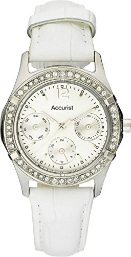Accurist Ladies White Watch LS264P