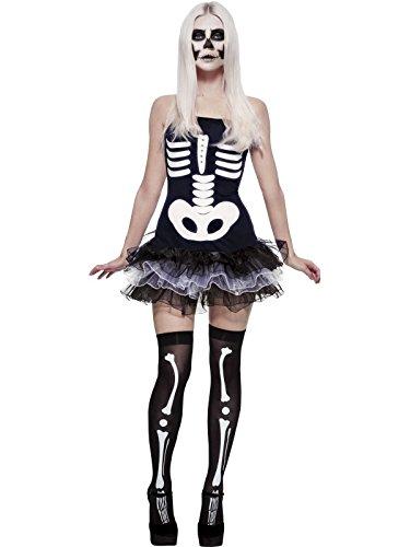 Generique Sexy Halloween Skelett-Kostüm für Damen XS (Halloween Skelette)