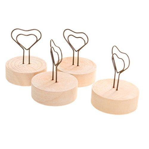 Fermacarte da tavolo con design a cuore per foto, note, promemoria, menu, segnaposto; 10 pezzi