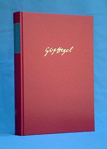 Gesammelte Werke, Bd.17, Vorlesungsmanuskripte I (1817 - 1831).