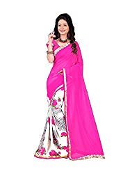 Airson Fab pink Grey Designer Saree