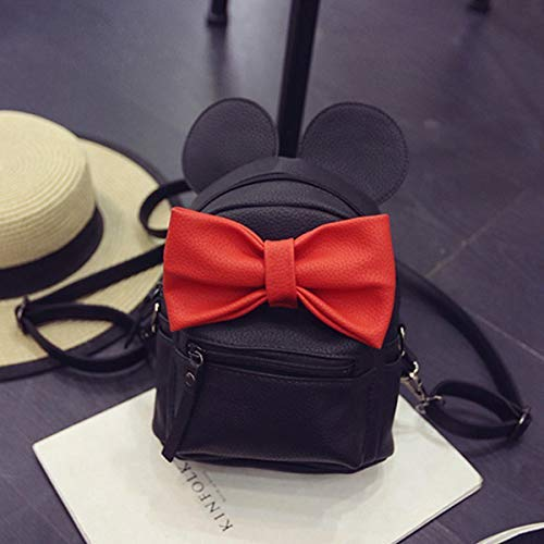 Bizarre Vogue Cute Small College Bag Bow Style Backpack for Girls (Black,BV1217) Image 3