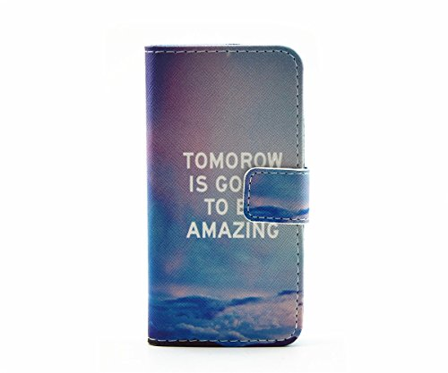 inShang Coque pour iPhone SE Cell Phone Housse de Protection Etui pour iPhone SE, SUPER PU Cuir case de premiere qualite Tomorow