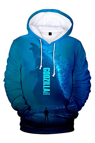 a: King of The Monsters Kapuzenjacke 3D Pullover mit Kapuze Sweatjacke Hoodie Cosplay Kostüm Unisex XL ()