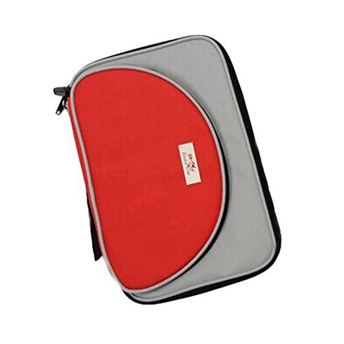 COOL oblong Housse pour raquette de tennis de table Ping Pong Bat Sac Rouge/gris