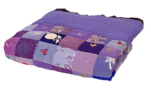 Colorique Pierced Plaid Patchwork Pretty Violet, 140 x 200 cm
