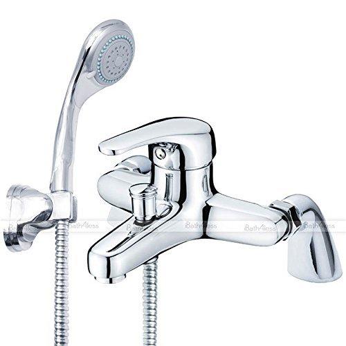 Generic o-1-o-2206-o OWER HO Deck montiert ED Armatur Dusche Mixer-Deck M Moderne Chrom einzigen Kopf Dusche Wasserhahn Dusche & Le Leve Hebel Bad NV _ 1001002206-nhuk17_ 163 (Kopf Einzigen Schlauch)