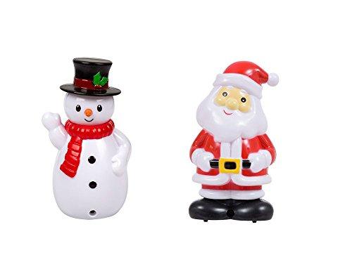 Greenbrier Christmas House Bewegungserkennung Kunststoff Singing Santa und Schneemänner, 5,75in jeder