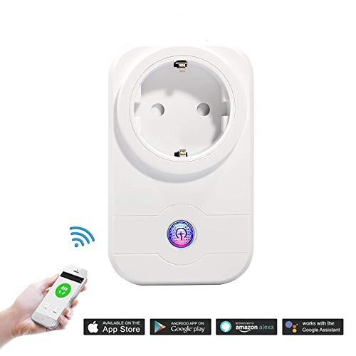 Expower Intelligente WiFi Presa APP Controllo Remoto Senza Fili Presa con Timer Compatibile con Amazon Alexa Google Home APP per Smartphone Android e iOS, Interruttore Sicuro per Casa Ufficio