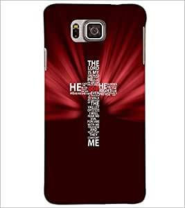 PrintDhaba Typographic Cross D-3057 Back Case Cover for SAMSUNG GALAXY ALPHA (Multi-Coloured)