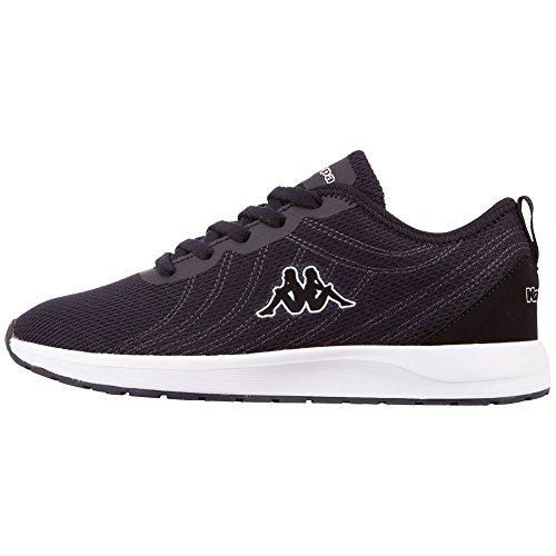 Kappa Damen Vivid W Sneaker, Schwarz (Black/White 1110), 38 EU