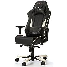 DXRacer King KF57 Gaming Chair, Kunstleder - schwarz/weiß