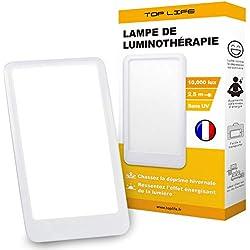 Lampe de luminothérapie 10000 lux - Chassez la déprime - Lampe lumière du jour compacte - Efficacité thérapeutique prouvée contre les Troubles de Dépression Saisonnière (TAS)